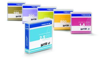 Overland LTO-6 Data Cartridges, 2.5TB/6.25TB, pre-labeled (5-pack, contains 5 pieces)