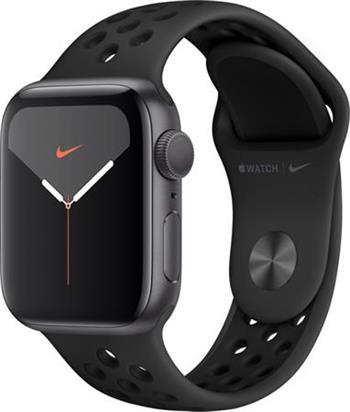 Apple Watch Nike 44mm vesmírně šedý hliník s antracitovým/černým Nike sportovním řemínkem (2019)