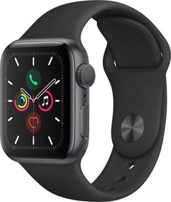 Apple Watch Series 5 40mm vesmírně šedý hliník s černým sportovním řemínkem