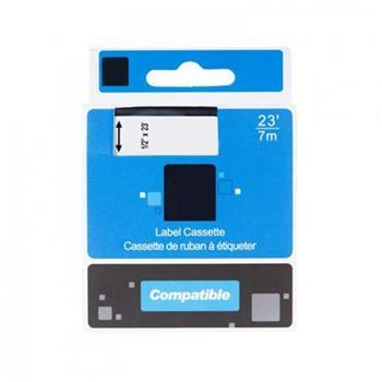 PRINTLINE kompatibilní páska s DYMO, 43613, S0720780, 6mm,7m,černý tisk/bílý podklad, D1