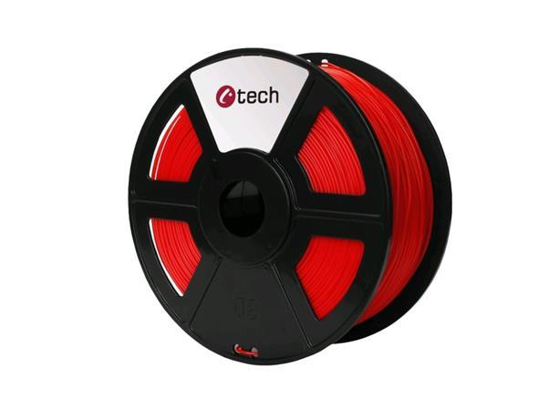 C-TECH tisková struna ( filament ) , PLA, 1,75mm, 1kg, červená