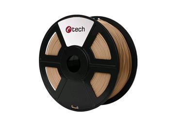 C-TECH tisková struna ( filament ) , PLA, 1,75mm, 1kg, dřevo