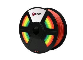 C-TECH tisková struna ( filament ) , PLA, 1,75mm, 1kg, duha