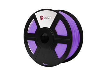 C-TECH tisková struna ( filament ) , PLA, 1,75mm, 1kg, fialová