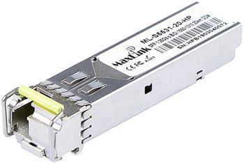 MaxLink 1.25G SFP optický HP modul, WDM(BiDi), SM, Tx 1550/Rx1310nm, 20km, 1x LC konektor, DDM, HP kompatibilní