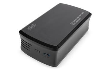DIGITUS 3,5 ' USB3.0 SSD / HDD RAID SATA pouzdro Podpora USB3.0 JBOD, RAID0, RAID1