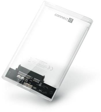 CONNECT IT ToolFree Clear externí box pro HDD 2,5