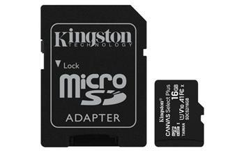 KINGSTON 16GB microSDHC CANVAS Plus Memory Card 100MB read - UHS-I class 10 Gen 3