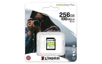 KINGSTON 256GB SDHC CANVAS Plus Class10 UHS-I 100MB/s Read Flash Card