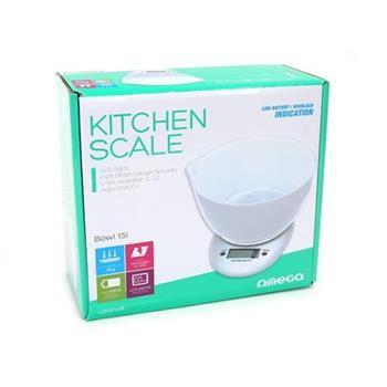 OMEGA kuchyňská váha bílá s miskou
