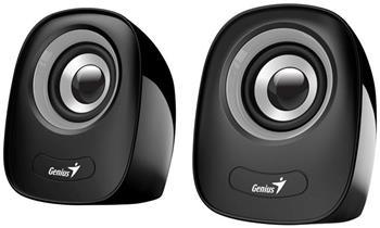 Genius repro SP-Q160, přenosné repro, 2.0, 6W, USB napájení, 3,5mm jack, černo-šedé