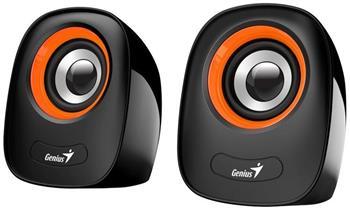 Genius repro SP-Q160, přenosné repro, 2.0, 6W, USB napájení, 3,5mm jack, černo-oranžové