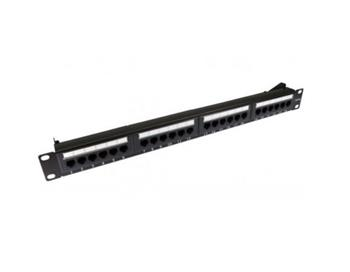 UTP Patch panel OPTIX Cat.6, 24 port, 1U, black, Certifikován