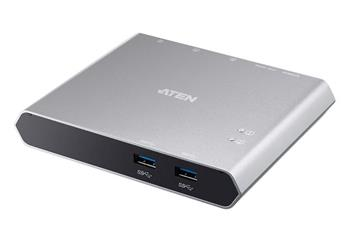 Aten 2-Port USB-C Dock Switch with Power Pass-through