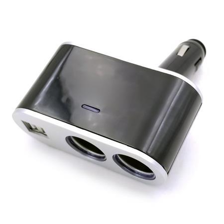 OMEGA pevný rozbočovač do auta + 2x USB port 2,4A