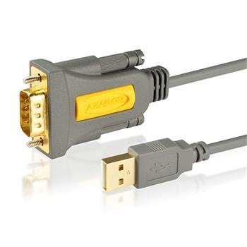 AXAGON ADS-1PS, USB2.0 - sériový RS232 DB9 Prolific AKTIVNÍ adaptér / kabel 1,5m
