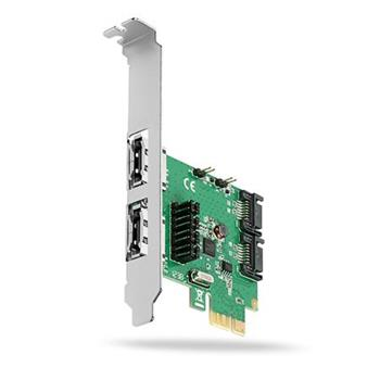 AXAGON PCES-SA4, PCIe řadič - 2x int./ext. SATA III 6G ASMedia