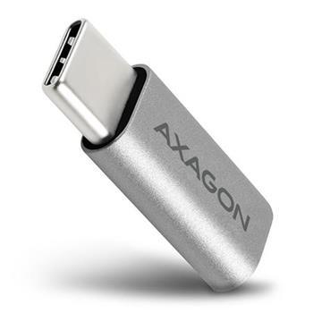 AXAGON RUCM-MFA, USB-C Male -> Micro USB Female ALU redukce