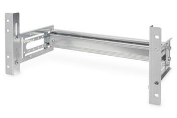 DIGITUS Držák na DIN lištu, 4U, 178x483x223 mm, pozinkovaný vč. kolejnice, variabilní hloubka a výška