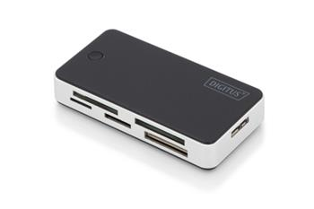 DIGITUS Čtečka karet USB 3.0 s připojovacím kabelem USB 1m Podpora karet MS / SD / SDHC / MiniSD / M2 / CF / MD / SDXC