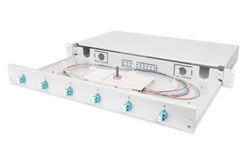 DIGITUS Professional Fiber Optic Splice Box, Equipped, LC, OM3