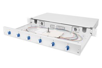 DIGITUS Professional Fiber Optic Splice Box, Equipped, LC, OS2