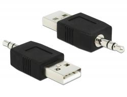 Delock Adaptér z USB na kolíkový stereo konektor 3,5 mm pro iPod Shuffle