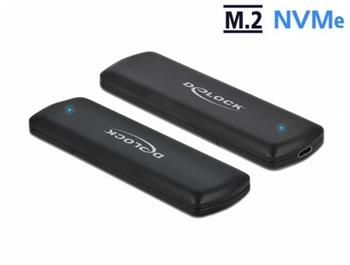 Delock Externí skříň pro M.2 NVMe PCIe SSD se USB Type-C™ samice - beznástrojový
