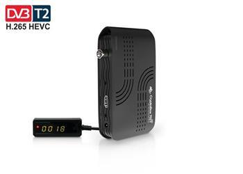 AB CryptoBox 702T mini HD DVB-T2/Full HD/ MPEG2/ MPEG4/ HEVC/ USB/ černý