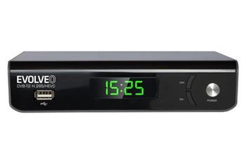 EVOLVEO Omega II, WiFi HD DVB-T2 H.265/HEVC rekordér, HDMI, SCART, USB