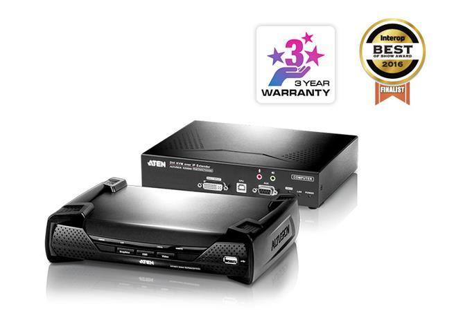 ATEN KE6900AR DVI-I Single Display KVM over IP Extender Receiver
