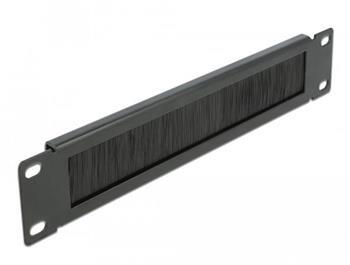 "Delock 10"" Kartáčový pruh pro správu kabelů 1U, černý"