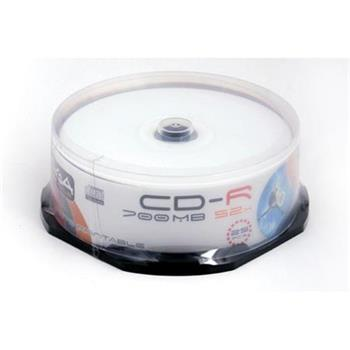 FREESTYLE CD-R 700MB 52X WHITE INKJET FF PRINTABLE CAKE*25 [40192]