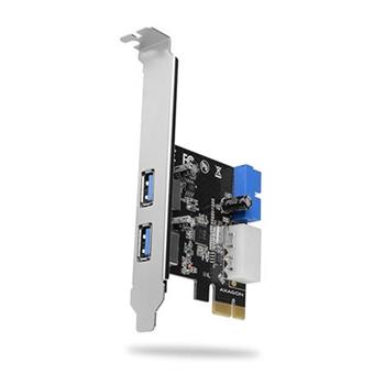 AXAGON PCEU-232VL, PCIe řadič, 2+2x USB3.2 Gen 1 port, UASP, vč. LP