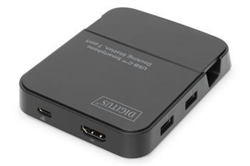 DIGITUS Dokovací stanice pro smartphony, 2x USB 2.0, 1x Hub USB 3.0 1x HDMI, 1x SD 2.0, 1x Micro SD 2.0