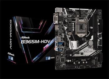 ASROCK MB B365M-HDV (intel 1151v2 coffee lake, 2xDDR4 2666MHz, VGA+DVI +HDMI, USB3.1, 6xSATA3 + M.2, 7.1, GLAN, mATX)