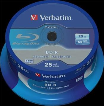 VERBATIM BD-R SL DataLife 25GB, 6x, spindle 25 ks