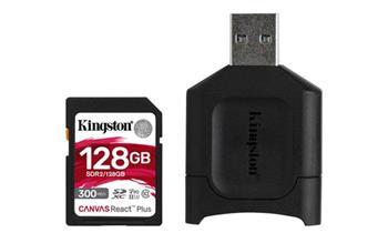 KINGSTON 128GB SDHC Canvas React Plus SD Kit karta + čtečka