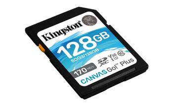 KINGSTON 128GB SDXC Canvas Go! Plus 170R/90W CL10 U3 V30