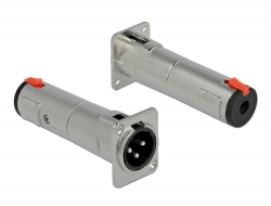 Delock Typu D Modul XLR samec na 6,35 mm 3 pin stereo jack samice
