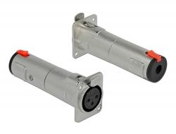 Delock Typu D Modul XLR samice na 6,35 mm 3 pin stereo jack samice