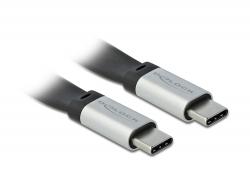 Delock USB 3.2 Gen 2, FPC plochý stuhový kabel, USB Type-C™ na USB Type-C™, 22 cm, PD 3 A E-Marker