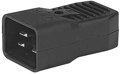 PremiumCord konektor IEC C20, 16A, černý