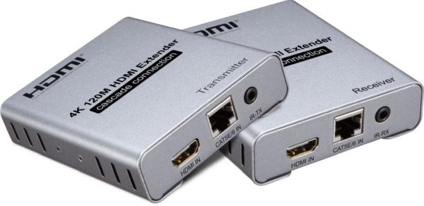 PremiumCord 4K HDMI kaskádovací extender na 120m přes Cat5/6, bez zpoždění
