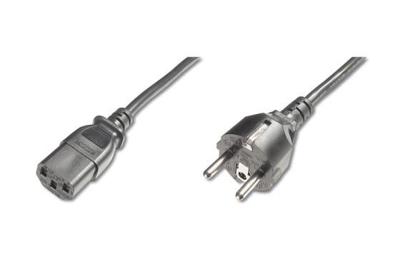 PremiumCord napájecí kabel 240V, délka 2m CEE7 přímý/IEC C13