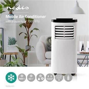 Nedis ACMB1WT7 - Mobilní Klimatizace | 7 000 BTU | Energetická třída A | Dálkový ovladač | Funkce Časovače