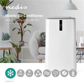 Nedis ACMB1WT12 - Mobilní Klimatizace | 12 000 BTU | Energetická třída A | Dálkový ovladač | Funkce Časovače