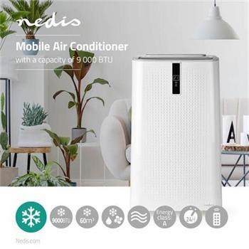 Nedis ACMB1WT9 - Mobilní Klimatizace | 9 000 BTU | Energetická třída A | Dálkový ovladač | Funkce Časovače