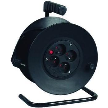 PremiumCord prodlužovací kabel 230V, 25m na bubnu, 4 zásuvky, 1,5mm2
