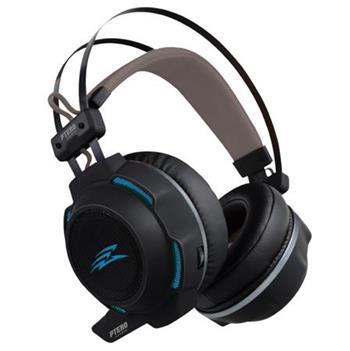 EVOLVEO Ptero GHX300, Herní sluchátka s mikrofonem, podsvícené, 2x 3,5 mm jack